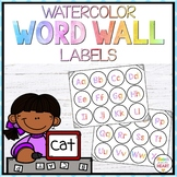 Watercolor Word Wall Labels Aa-Zz