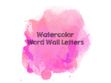 Watercolor Word Wall Letters (Pink)