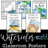 Watercolor World Culture, Travel, and Inspirational Posters: Classroom Decor