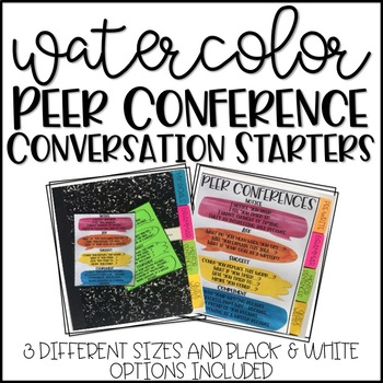 Watercolor Writing Peer Conference Conversation Starters