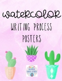 Watercolor Writing Process Posters