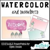 Watercolor and Cactus Open House PowerPoint