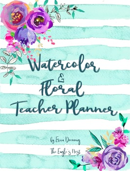 Watercolor and Florals Teacher Planner