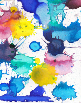 15 Watercolor and Ink Background Images for Labels, Cards etc