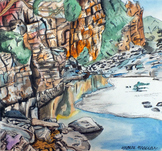 Watercolor and Ink Landscapes