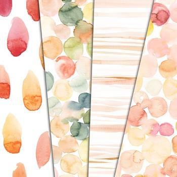 Watercolor digital paper, background, pattern