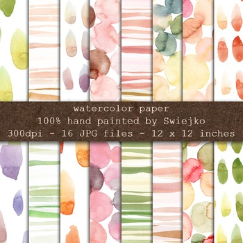 Watercolor digital paper, background, pattern