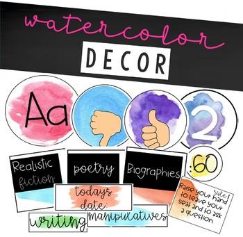 Watercolor editable labels