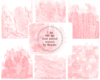 Watercolor ombre background, blush pink