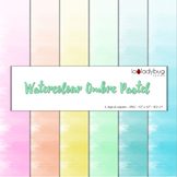 Watercolor ombre effect digital papers. Pastel colors. Wallpapers. Backgrounds.