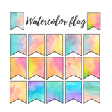 Watercolor rainbow flag clipart