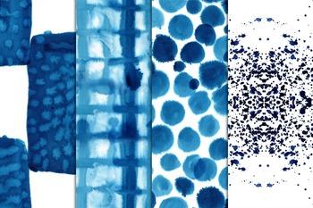 Watercolor seamless papers, nautical, cobalt, indigo #57