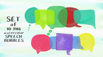 Watercolor speech bubbles