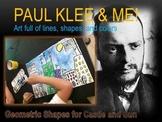 Elementary Art Lesson 2nd: Paul Klee Castle & Sun Landscape Watercolor & Marzano