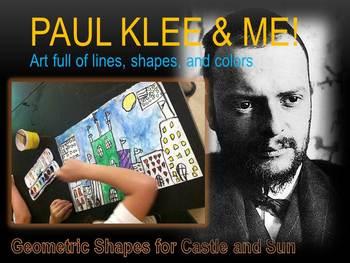 Elementary Art Lesson 2nd Paul Klee Castle Sun Landscape