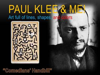 Elementary Art Lesson and Presentation 1st: Paul Klee Comedians Watercolor