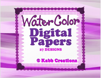 Watercolors Digital Papers! More Included!!!