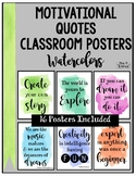 Watercolor Motivational Quotes Classroom Posters