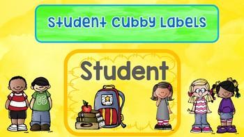 Watercolors cubby labels