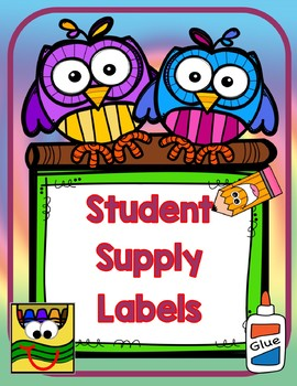 Watercolors supply labels