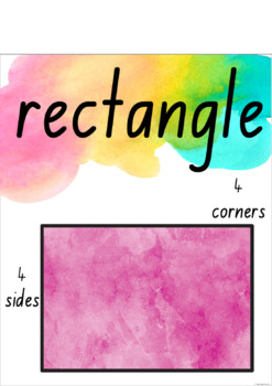 Watercolour 2D and 3D Shape Posters - New South Wales Fonts