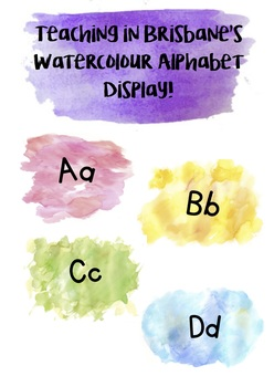 Watercolour Alphabet #ausbts2018