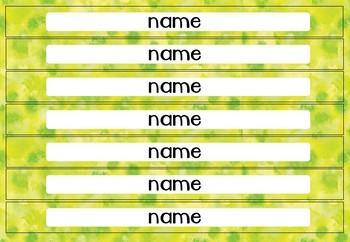 Watercolour Big Tray Labels