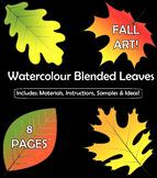 Watercolour Blended Leaves