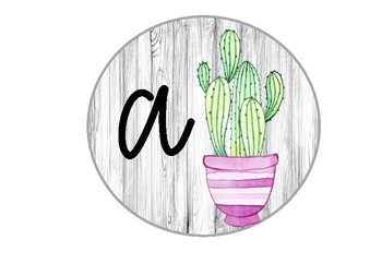 Watercolour Cactus & Succulent Word Wall