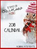 Watercolour Calendar - 12 Days of Christmas Freebies - Day 12