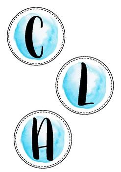 Watercolour Circle Class Labels 2