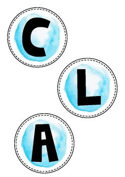 Watercolour Class Circle Labels