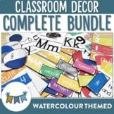 Watercolour Classroom Decor Bundle
