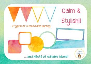 Watercolour Classroom Label & Decor Pack