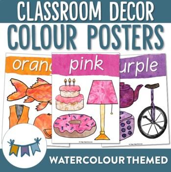 Watercolour Colour Posters