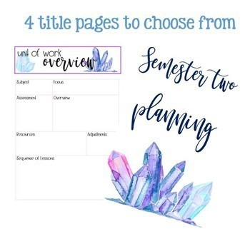 Mini Planner Binder Watercolour Crystals