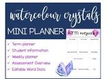 Mini Planner Binder Watercolour Crystals