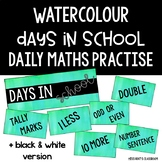 Watercolour 'Number of the Day' Daily Maths Practice Labels/Cards