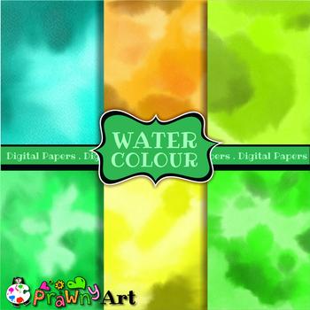 Watercolour Digital Paper Set