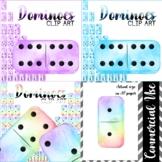 Watercolour Dominoes Clipart BUNDLE