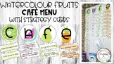 Watercolour Fruit theme CAFE strategy cards