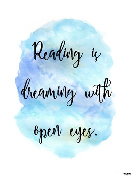 Watercolour Inspirational Quotes Reading By Miss Learning Bee Tpt
