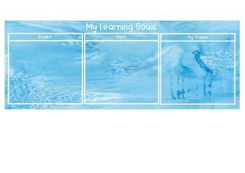 Watercolour Ocean Learning Goals Mat