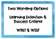 Watercolour Ocean Learning Intention Displays - WALT & WILF available.