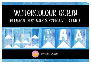 Watercolour Ocean Theme Bunting