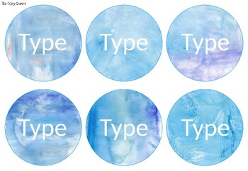 Watercolour Ocean Theme Editable Blank Labels - Bunting - Squares - Rectangles