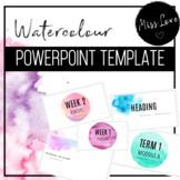 Watercolour Powerpoint Slides Template