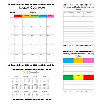 Watercolour Pre-service Teacher Planner