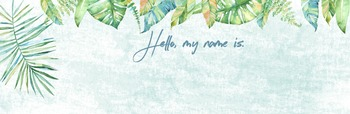 Watercolour Rainforest EDITABLE Desk and Locker Labels