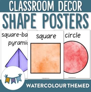 Watercolour Shape Posters